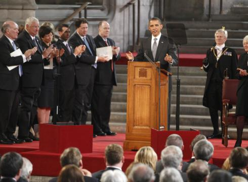 Obama at Westminster Hall
